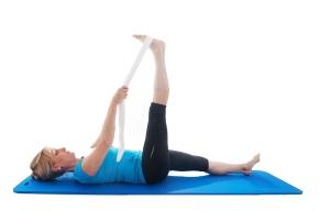 hamstring stretch lying 2