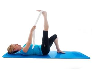hamstring stretch lying 1