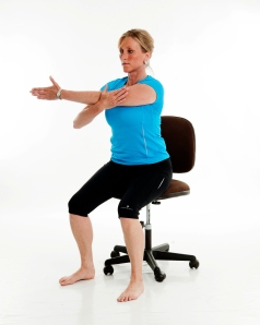 Seated Shoulder stretch part 1