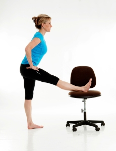 Hamstring Stretch for at the office